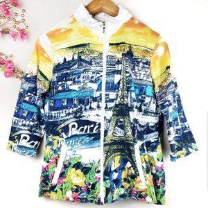 Onque Casual Torre Eiffel Paris zip jacket medium